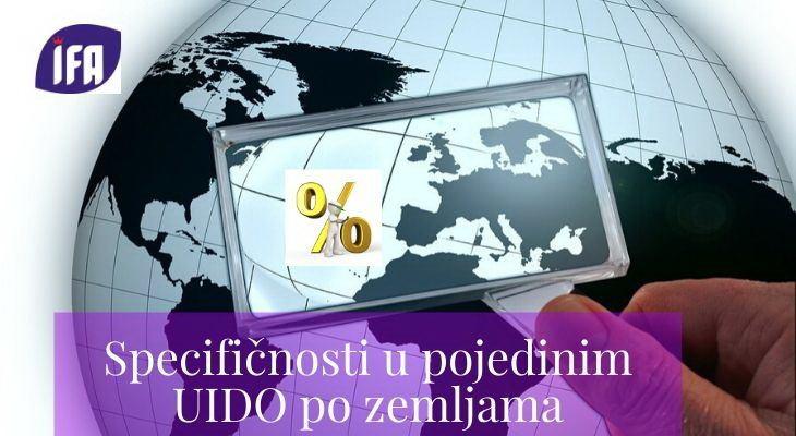 Specifičnosti u pojedinim UIDO