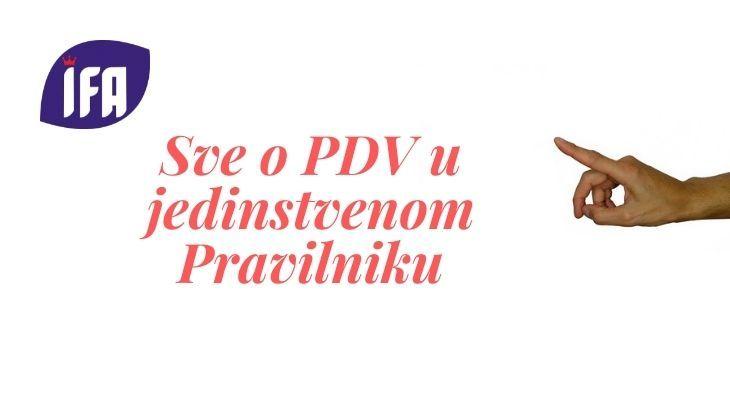 Izmene Pravilnika o PDV